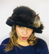 Peak and Brim Designer Hats - Monique in Black - direct from the designer