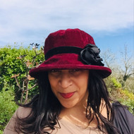 Peak and Brim Designer Hats - Verity in Burgundy & Black - direct from the designer