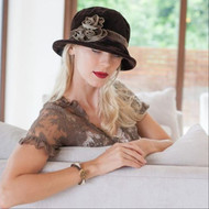 Peak and Brim Designer Hats - Verity in Brown & Brown - direct from the designer