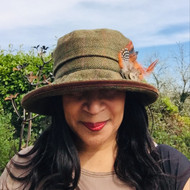 Peak and Brim Designer Hats - Jane in Brown - direct from the designer