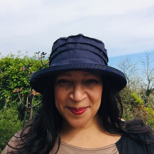 Peak and Brim Designer Hats - Lucy in Navy - direct from the designer