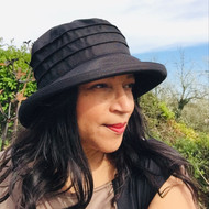 Peak and Brim Designer Hats - Lucy in Black - direct from the designer