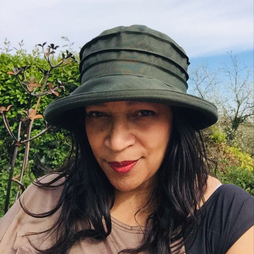 Peak and Brim Designer Hats - Lucy in Forest Green - direct from the designer