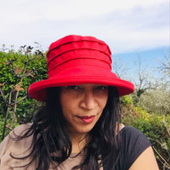 Peak and Brim Designer Hats - Lucy in Rouge - direct from the designer