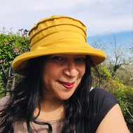 Peak and Brim Designer Hats - Lucy in Yellow - direct from the designer