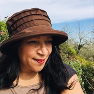 Peak and Brim Designer Hats - Lucy in Brown - direct from the designer
