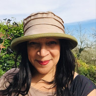 Peak and Brim Designer Hats - Lucy (Two Tone) in Beige & Olive- direct from the designer