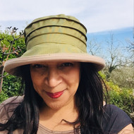 Peak and Brim Designer Hats - Lucy (Two Tone) in Olive & Beige - direct from the designer