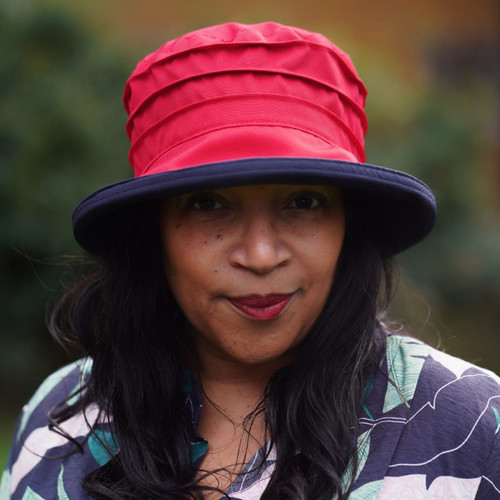 Peak and Brim Designer Hats - Lucy (Two Tone) in Red & Navy - direct from the designer