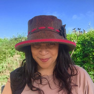 Peak and Brim Designer Hats - Alexia Large Brim in Cerise Pink - direct from the designer