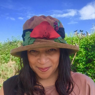 Peak and Brim Designer Hats - Autumn Leaves Large Brim in Olive - direct from the designer