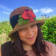 Peak and Brim Designer Hats - Autumn Leaves Small Brim in Olive - direct from the designer