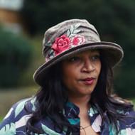 Peak and Brim Designer Hats - Jane (Rose) in Brown - direct from the designer