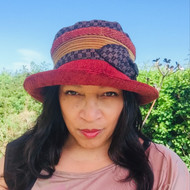 Peak and Brim Designer Hats - Stella Multi in Red - direct from the designer
