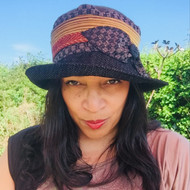 Peak and Brim Designer Hats - Stella Multi in Black - direct from the designer