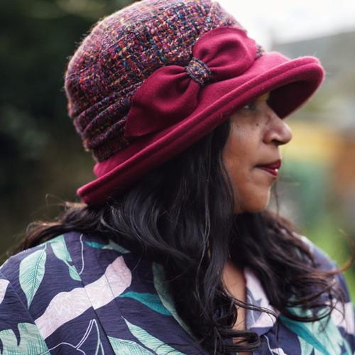 Peak and Brim Designer Hats - Marie in Burgundy - direct from the designer