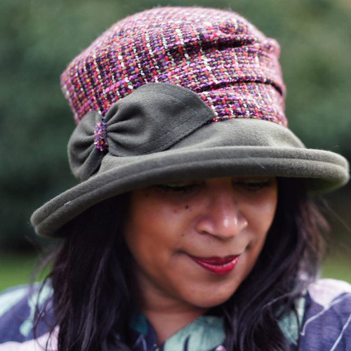 Peak and Brim Designer Hats - Marie in Green - direct from the designer