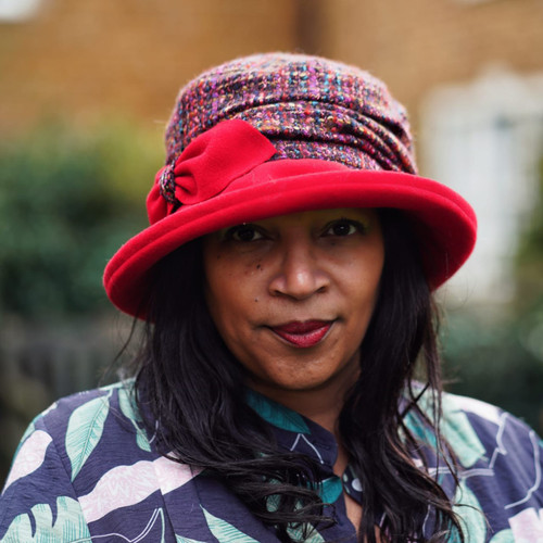 Peak and Brim Designer Hats - Marie in Red - direct from the designer