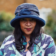 Peak and Brim Designer Hats - Marie in Navy A - direct from the designer