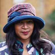 Peak and Brim Designer Hats - Marie in Navy B - direct from the designer