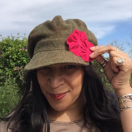 Peak and Brim Designer Hats - Baker Girl Dark Green - direct from the designer
