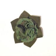 Flower Tweed  Brooch