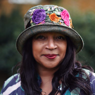 Peak and Brim Designer Hats - Clare - Pink & Purple - Direct from the Designer