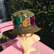 Peak and Brim Designer Hats - Clare - Plum & Green - Direct from the Designer