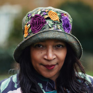 Peak and Brim Designer Hats - Clare - Plum & Purple - Direct from the Designer