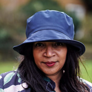 Peak and Brim Designer Hats - Emma - Plain - Blue- Direct from the designer