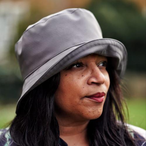 Peak and Brim Designer Hats - Emma - Plain - Grey- Direct from the designer