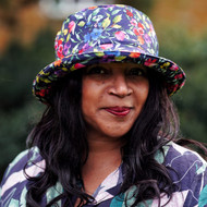 Peak and Brim Designer Hats - Emma - Floral - Navy - Direct from the designer