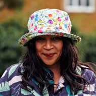 Peak and Brim Designer Hats - Emma - Floral - White- Direct from the designer