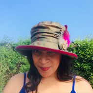 Bonnie in Tan- Direct from the designer, Peak and Brim Designer Hats