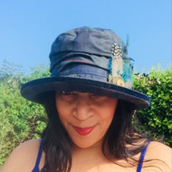 Bonnie in Navy - Direct from the designer, Peak and Brim Designer Hats
