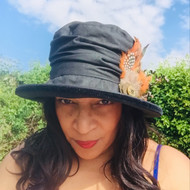 Christine in Black - Direct from the designer, Peak and Brim Designer Hats