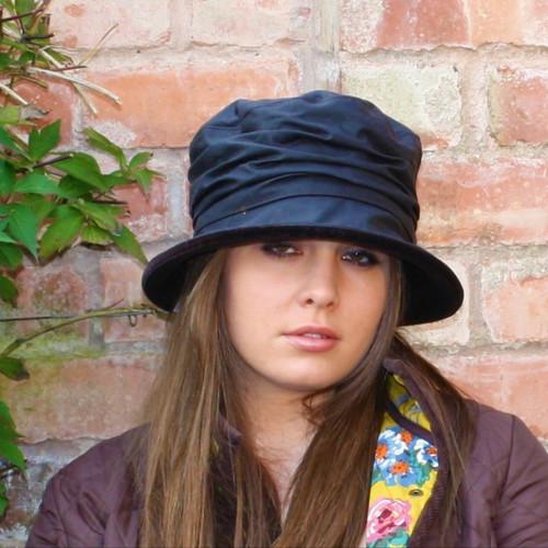 Christine in Black - Direct from the designer, Peak and Brim Designer Hats