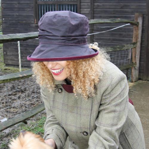 Christine in Burgundy - Direct from the designer, Peak and Brim Designer Hats