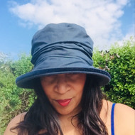 Christine in Navy - Direct from the designer, Peak and Brim Designer Hats