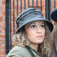 Nola Small Brim in Green - Direct from the designer, Peak and Brim Designer Hats