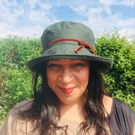 Helen (Hat in a bag) in Green - Direct from the designer, Peak and Brim Designer Hats