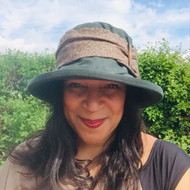 Beverley Large Brim in Green - Direct from the designer, Peak and Brim Designer Hats