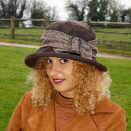 Beverley Large Brim in Brown - Direct from the designer, Peak and Brim Designer Hats
