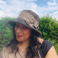 Beverley Small Brim in Brown - Direct from the designer, Peak and Brim Designer Hats