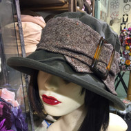 Beverley Small Brim in Green - Direct from the designer, Peak and Brim Designer Hats