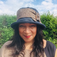 Beverley Small Brim in Navy - Direct from the designer, Peak and Brim Designer Hats