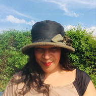 Ginette Small Brim in Black - Direct from the designer, Peak and Brim Designer Hats