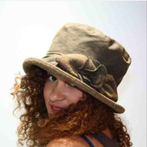 Ginette Small Brim in Brown - Direct from the designer, Peak and Brim Designer Hats