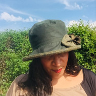 Ginette Small Brim in Green - Direct from the designer, Peak and Brim Designer Hats