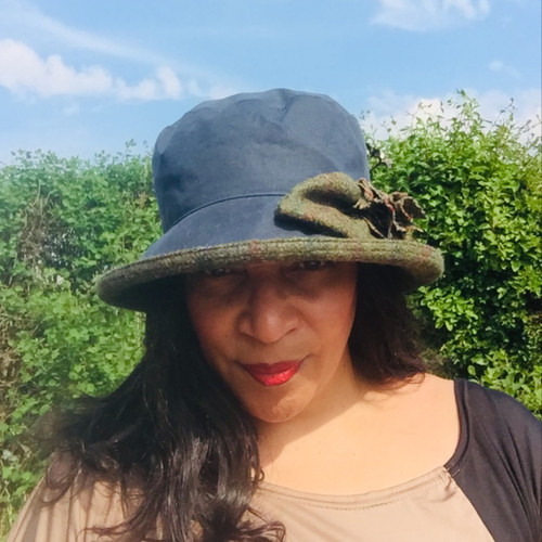 Ginette Small Brim in Navy - Direct from the designer, Peak and Brim Designer Hats